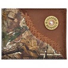 3D Badger Western Wallet Mens Leather Bifold Lacing Conchos BW562