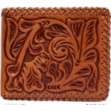 3-D Belt Company Wallet, Bi-Fold Tooled Leather Style # AW117
