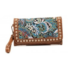 Blazin Roxx Western Womens Wallet Paisley Studded Quilted N7545633