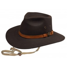 Outback Trading Kodiak Brown Oilskin Outback Hat 1480