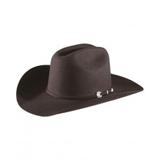 Stetson Men's 4x Corral Buffalo Felt Hat Black 7 1/4 75400772
