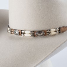 Brown Studs and Beaded Hatband Item # 0298344