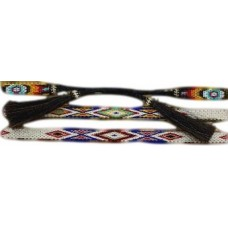 "M & F Western Hatband Mens Horse Hair Braided 1/2"" Multi Color 0229599"