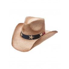 "Charlie 1 Horse "" Stars And Stripes"" Straw Hat CSSTRS-4036"